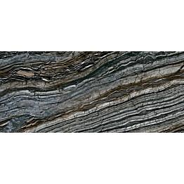 Lattialaatta Pukkila Rock Symphony Glam Musta kiiltävä sileä 1785x785 mm
