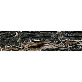Lattialaatta Pukkila Rock Symphony Glam Musta kiiltävä sileä 594x147 mm