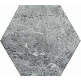 Lattialaatta Kymppi-Lattiat Marmore hex Grey 14x16cm