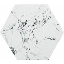 Lattialaatta Kymppi-Lattiat Marmore hex White 14x16cm
