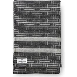 Laudeliina Finlayson Tamminiemi 50x160 cm musta/pellava
