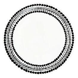Lautanen Vallila, Rehti 1.5x20cm, musta