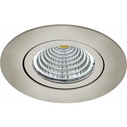LED-alasvalo Eglo Saliceto 98307 Ø88 mm 4000K harjattu teräs