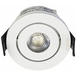 LED-alasvalo FTLight Moodspot, 3W, IP44,3000K, himmennettävä, valkoinen