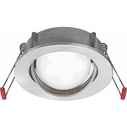 LED-alasvalo Lumiance Inset Trend S Wing 36 himmennettävä IP23 GU10 harjattu alumiini