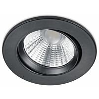 LED-alasvalo Trio Pamir ø85x54 mm IP23 mattamusta