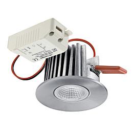 LED-alasvalo Instar Eco Kit LED Fixed 10W/462lm 3000K 36° IP44 Ø 78x50 mm harjattu alumiini