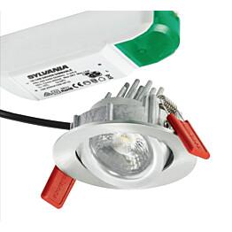 LED-alasvalo Instar Pro LED 12W/700lm 3000K 36° Ø 90x60 mm himmennettävä harjattu alumiini