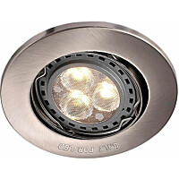LED-alasvalo Nordlux Mixit Pro ø 8,5 cm GU10 harjattu teräs
