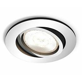 LED-alasvalo Philips myLiving Shellbark Ø 90x50 mm kromi