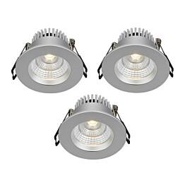 LED-alasvalosarja Markslöjd Ares IP44 3 kpl hopea