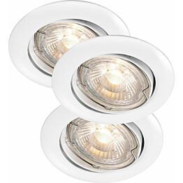 LED-alasvalosarja Nordlux Recess 3x35W IP23 säädettävä valkoinen