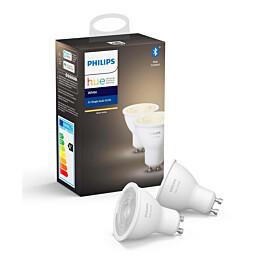 LED-älylamppu Philips Hue W 6W GU10 2kpl/pkt