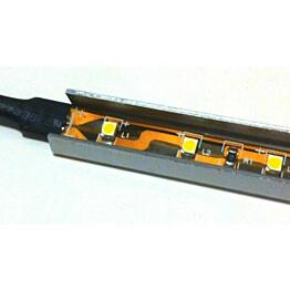 LED-asennuslista FTLight, U-malli, 1,2m, valkoinen alumiini, 5 kpl/pkt