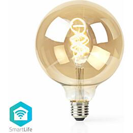 LED-filamenttilamppu Nedis Wi-Fi G125, E27, 5.5W, 350lm