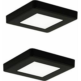 LED-kalustevalaisinsetti Limente LED-Leno 19 80x80x12 mm 2x4.2 W musta