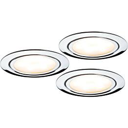 LED-kalustevalaisinsetti Micro Line 3x4,5W Ø 65 mm 3 kpl kromi