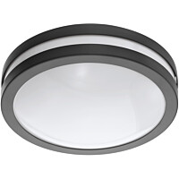 LED-Kattovalaisin Eglo Crosslink Locana-C, 14W, Ø260x95mm, IP44, musta