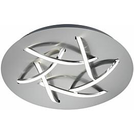 LED-kattovalaisin Trio Dolphin ø450x85 mm harjattu teräs