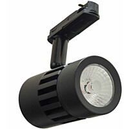 LED-kiskovalaisin FTLight, 8W, 700lm, 2700K, 1-vaihekiskoon, himmennettävä, musta