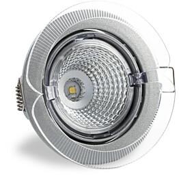 LED-kohdevalaisin Universal Design Spot S102 9W 60° 4000K vaaleanharmaa/oranssi ulko