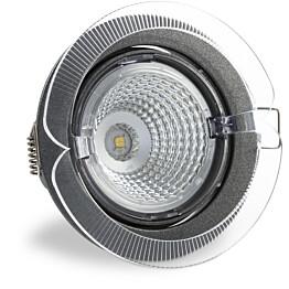 LED-kohdevalaisin Universal Design Spot S102 9W 60° 4000K tummanharmaa/oranssi ulko