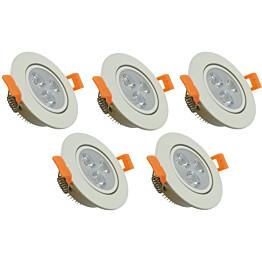 LED-kohdevalosarja ElectroGEAR IP20 5-osainen valkoinen
