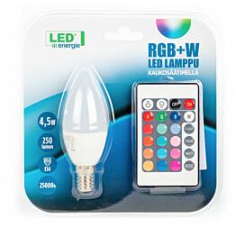 LED-kynttilälamppu LED Energie 4.5 W 250 lm RGB + white + kaukosäädin 37x100 mm