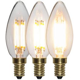 LED-kynttilälamppu Star Trading Decoration LED  3-step click 354-83 Ø 35x98mm E14 4W 2100K 40/200/400lm