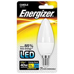 LED-lamppu Energizer Candle E14 5,9 W valkoinen