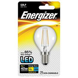 LED-lamppu Energizer Filament Golf E14 4 W kirkas