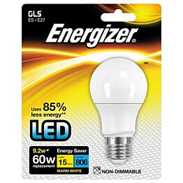 LED-lamppu Energizer GLS E27 9,2 W valkoinen