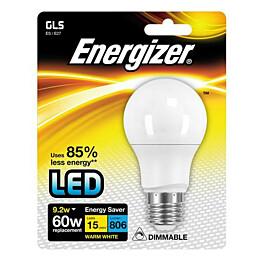LED-lamppu Energizer GLS E27 9,2 W valkoinen himmennettävä