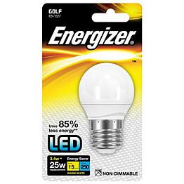 LED-lamppu Energizer Golf E27 3,4 W valkoinen