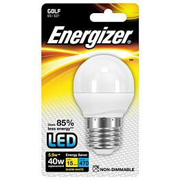 LED-lamppu Energizer Golf E27 5,9 W valkoinen