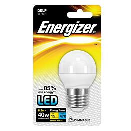 LED-lamppu Energizer Golf E27 6,5 W valkoinen himmennettävä