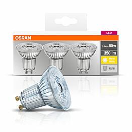 LED-lamppu Osram BASE PAR16 50, 3,6 W/827, GU10, 36° valokeila, 3 kpl/pak