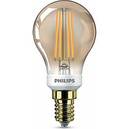 LED-lamppu Philips Vintage E14 P45 5 W kulta