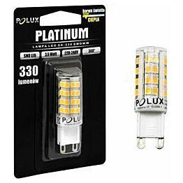 LED-lamppu Polux G9 3,5W IP20 Ø 16mm valkoinen