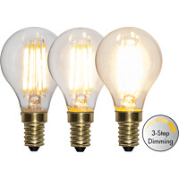 LED-lamppu Star Trading Decoration LED  3-step click 354-81 Ø 45x83mm E14 4W 2100K 40/200/400lm