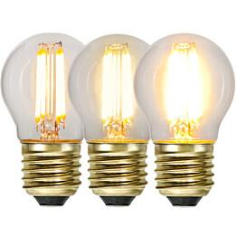 LED-lamppu Star Trading Decoration LED  3-step click 354-82 Ø 45x78mm E27 4W 2100K 40/200/400lm