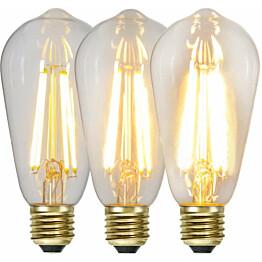 LED-lamppu Star Trading Decoration LED  3-step click 354-85 Ø 64x144mm E27 65W 2100K 70/350/700lm