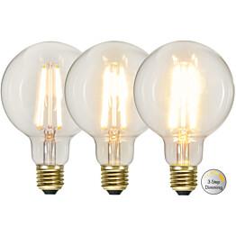 LED-lamppu Star Trading Decoration LED  3-step click 354-86 Ø 95x145mm E27 65W 2100K 70/350/700lm