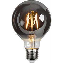 LED-lamppu Star Trading Decoration LED 355-81, Ø80x135mm, E27, savunharmaa, 1.8W, 2100K, 80lm
