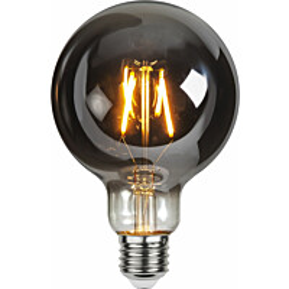 LED-lamppu Star Trading Decoration LED 355-82, Ø95x145mm, E27, savunharmaa, 1.8W, 2100K, 80lm