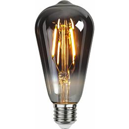 LED-lamppu Star Trading Decoration LED 355-84, Ø64x140mm, E27, savunharmaa, 1.8W, 2100K, 80lm