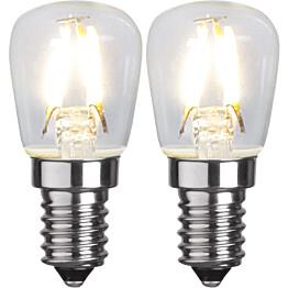 LED-lamppu Star Trading Illumination LED 352-41 Ø 26x58mm E14 kirkas 13W 2700K 110lm 2 kpl