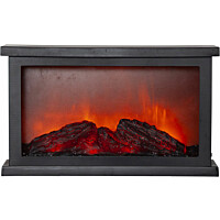 LED-lyhty Star Trading Fireplace, 180x330x110mm, musta