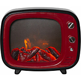 LED-lyhty Star Trading Fireplace, 220x270x110mm, punainen/musta