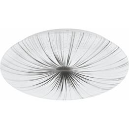 LED-plafondi Eglo Nieves Ø410 mm valkoinen/hopea